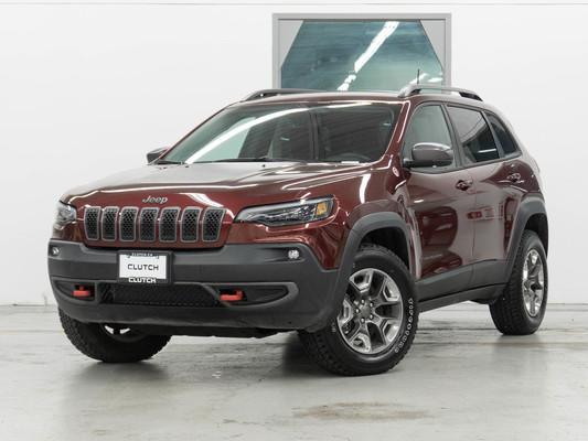 Maroon Jeep Cherokee TrailHawk 4WD