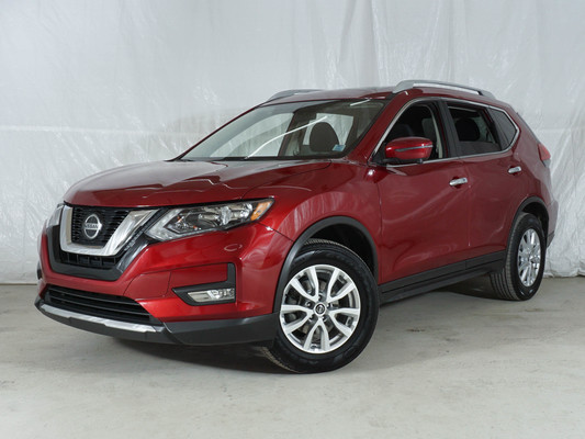 Red Nissan Rogue SV AWD