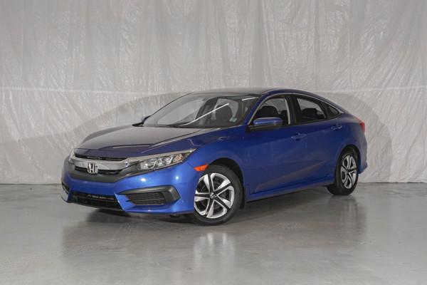 Blue Honda Civic LX