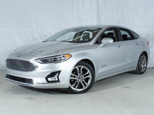 Grey Ford Fusion Hybrid Titanium