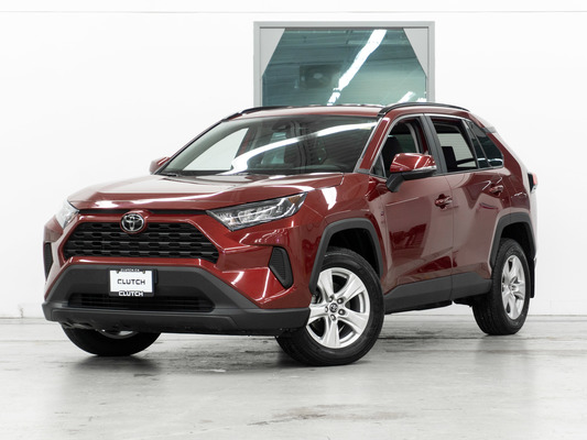 Red Toyota RAV4 LE AWD