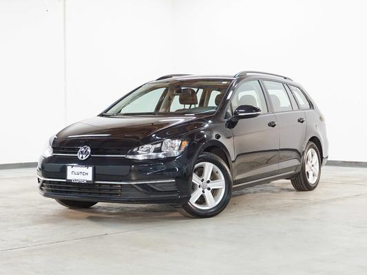 Black Volkswagen Golf SportWagen Comfortline