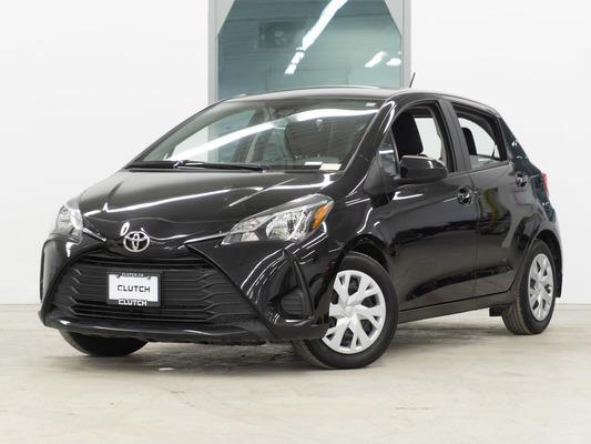 Black Toyota Yaris Hatchback LE