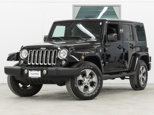 Black Jeep Wrangler JK Unlimited Sahara 4WD