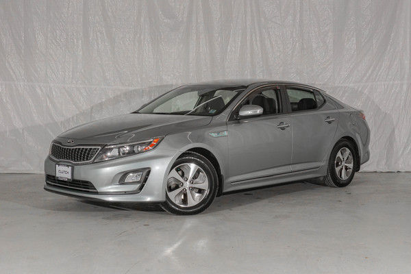 Blue Kia Optima Hybrid LX