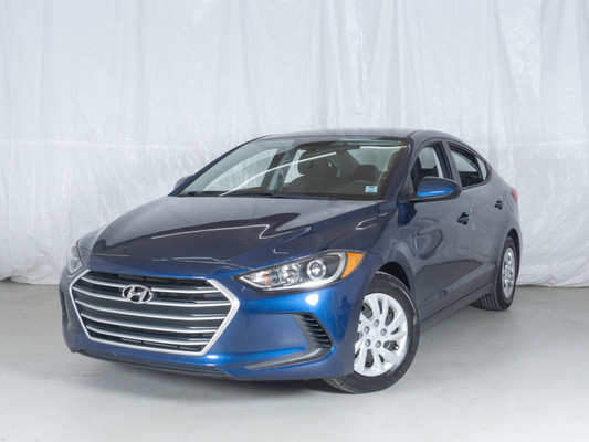 Blue Hyundai Elantra LE