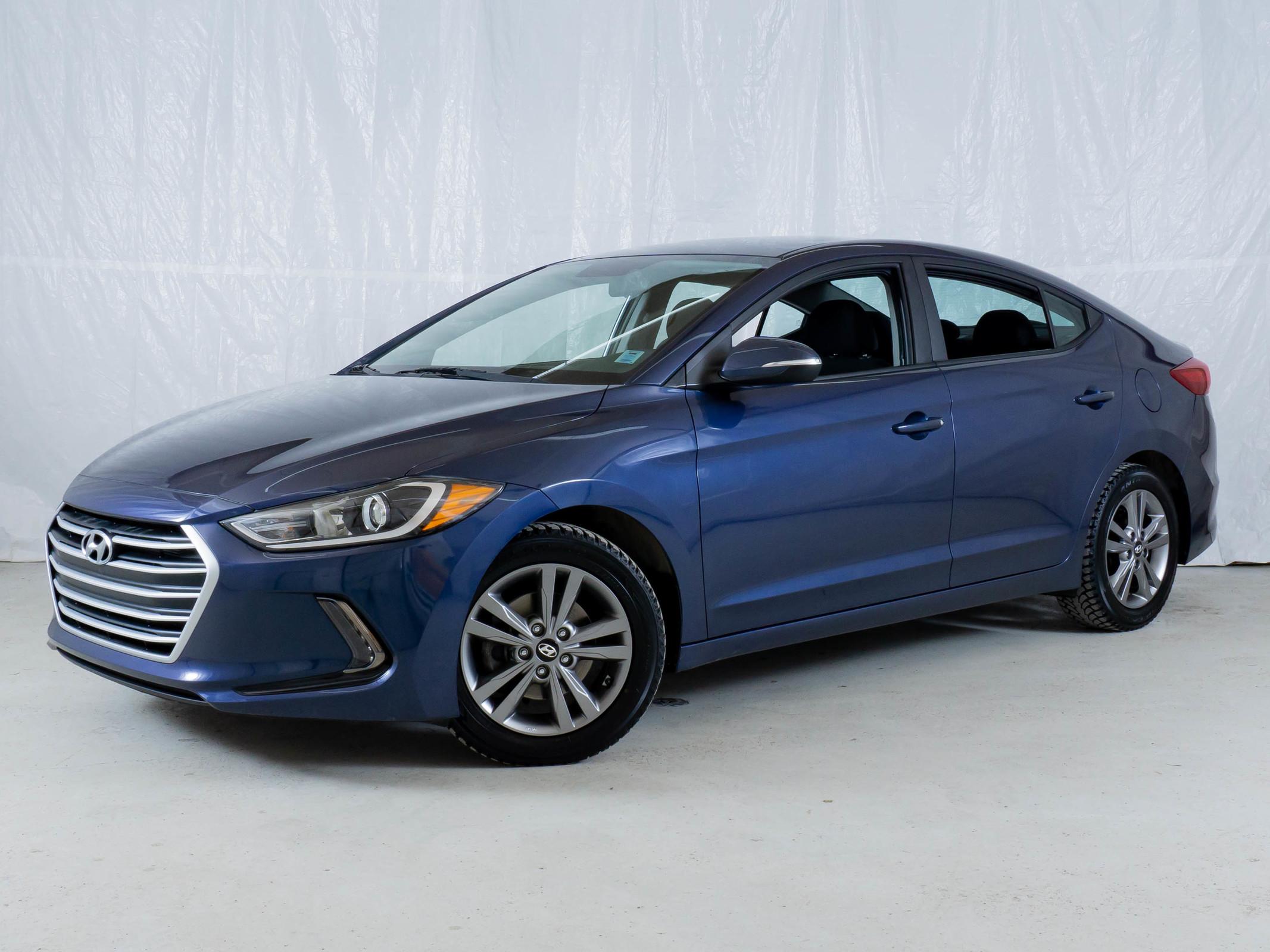 Blue Hyundai Elantra GL