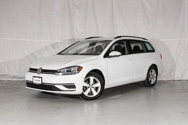 White Volkswagen Golf SportWagen Comfortline