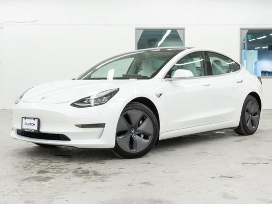 White Tesla Model 3 Long Range AWD