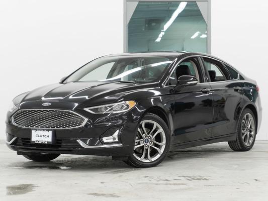 Black Ford Fusion Hybrid Titanium