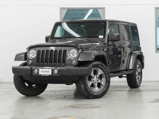 Grey Jeep Wrangler JK Unlimited Sahara 4WD