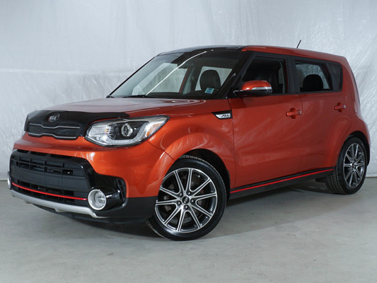 Orange Kia Soul SX