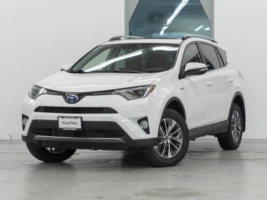 White Toyota RAV4 Hybrid LE+ AWD