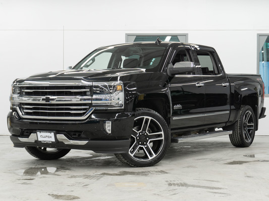 Black Chevrolet Silverado 1500 Crew High Country 4WD