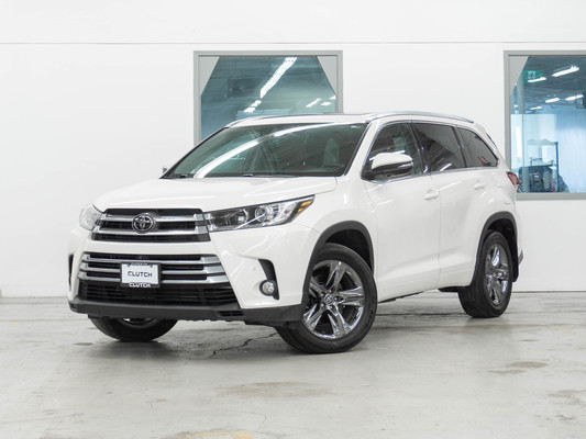 White Toyota Highlander Limited AWD