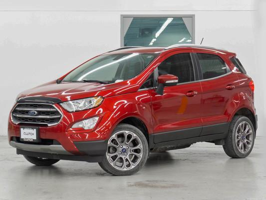 Red Ford EcoSport Titanium