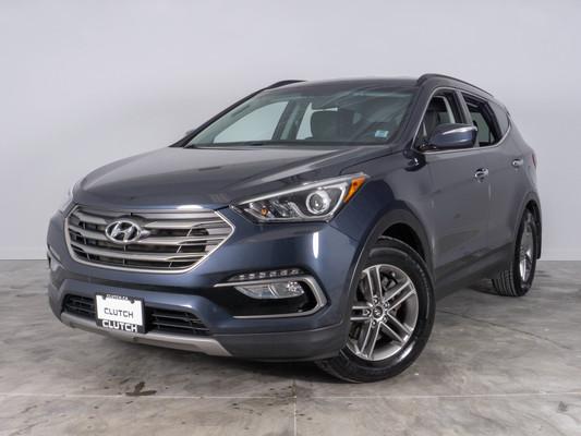 Blue Hyundai Santa Fe Sport 2.4L Premium AWD