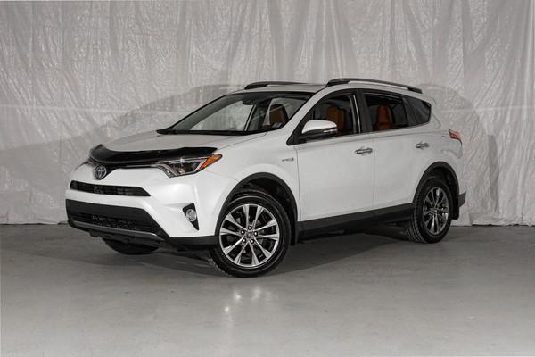 White Toyota RAV4 Hybrid Limited