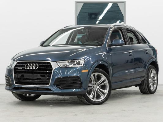 Blue Audi Q3 Progressiv AWD