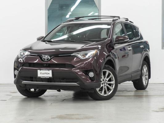 Maroon Toyota RAV4 Limited