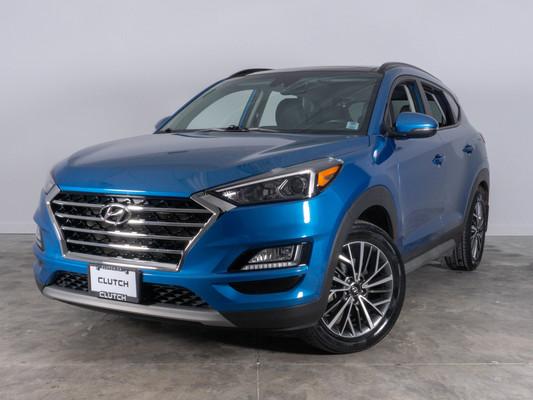 Blue Hyundai Tucson Luxury AWD