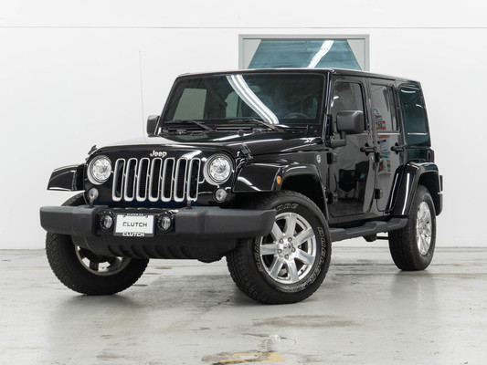 Black Jeep Wrangler JK Unlimited Sahara 4WD