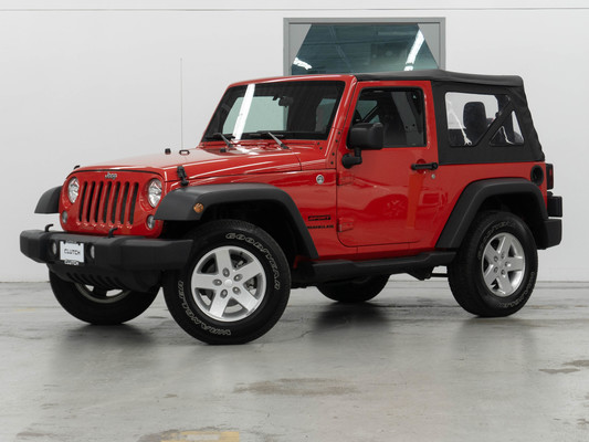 Red Jeep Wrangler Sport 4WD