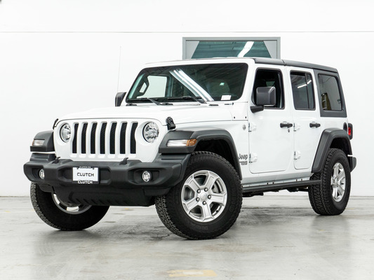 White Jeep Wrangler Unlimited Sport S