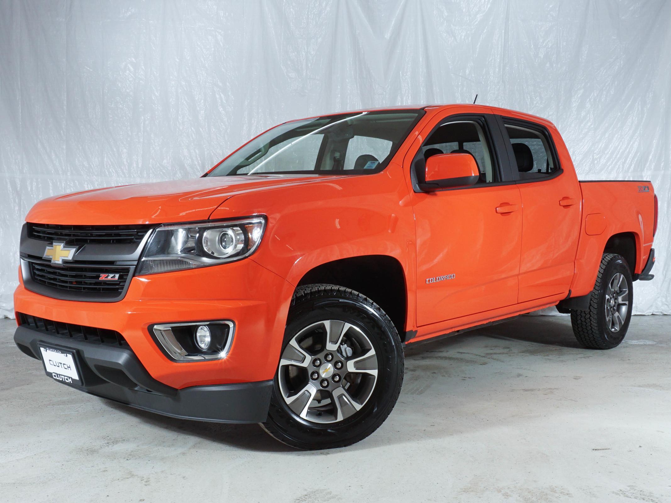 Orange Chevrolet Colorado 4WD Z71