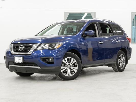Blue Nissan Pathfinder SV AWD