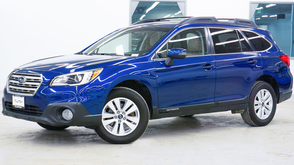 Blue Subaru Outback 2.5i Touring AWD
