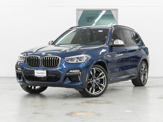 Blue BMW X3 xDrive M40i AWD