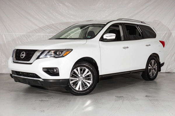White Nissan Pathfinder SV Tech