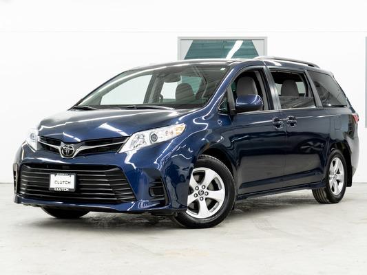 Blue Toyota Sienna LE