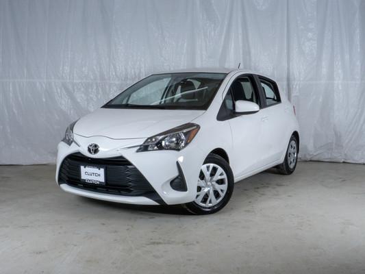 White Toyota Yaris Hatchback LE