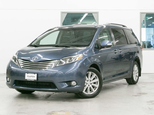 Blue Toyota Sienna Limited AWD